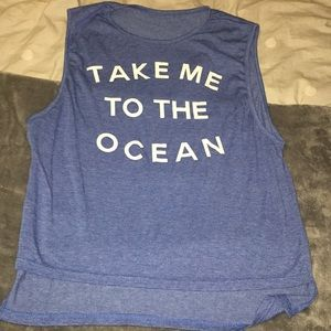 Take Me To The Ocean muscle tank